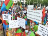 Eritrean Ethiopian Demonstration against the Killing of Eritreans in the Tigray Region of Ethiopia by the terrorist group TPLF