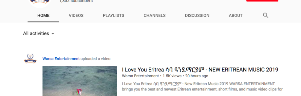 Warsa Enterprise Starts Publishing High Quality Content to YouTube