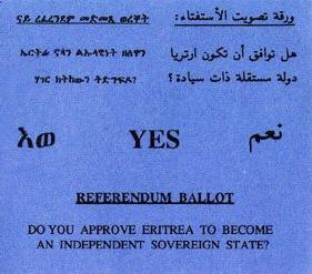 Eritrea Referendum